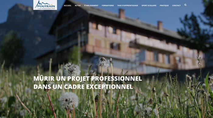 Site du Lycée professionnel Poutrain