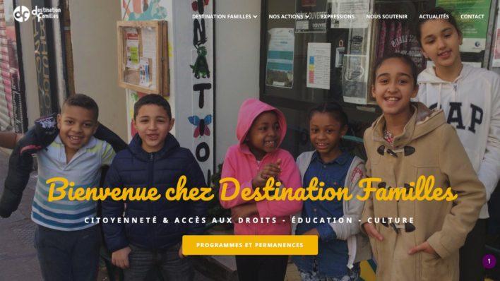 Maorigraphe a réalisé le site de Destination Familles