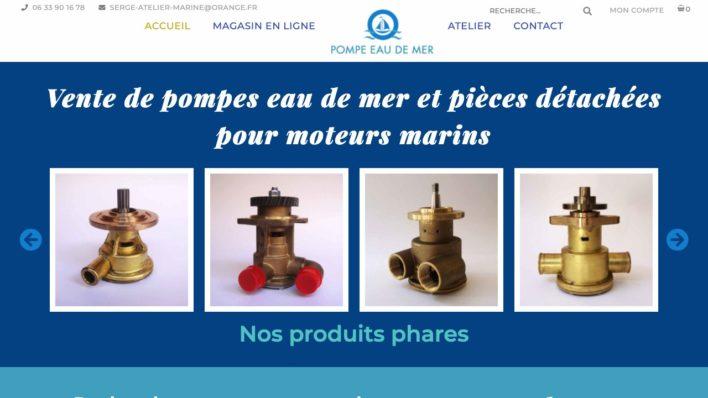 Maorigraphe a réalisé le site web de Serge Atelier Marine pour la vente de pompes à eau de mer